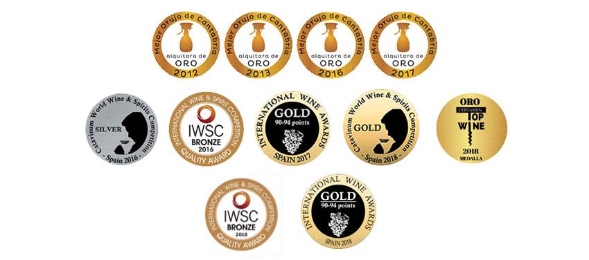 Medallas Aguardiente Orujo Picos Cabariezo Liebana